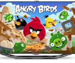 Angry Birds exclusief op Samsung Smart TV